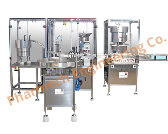 pc funnel stoppning & capping machine